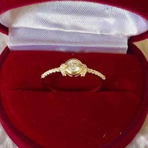 Engagement Ring 18k Gold 1ct Bezel Paved Band VALERIA - ZNZ Jewelry Philippines