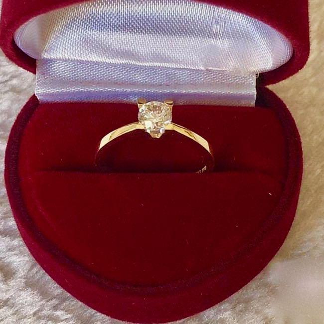Engagement Ring 18k Gold 1.5 ct Solitaire ESTHER - ZNZ Jewelry Philippines