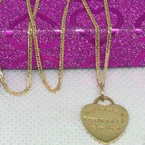 18K Gold Heart Women's Necklace jntt17 - ZNZ Jewelry Philippines