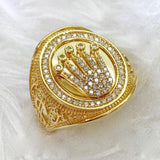 Men's Ring Crown 18K Gold jn4tt39 - ZNZ Jewelry Philippines