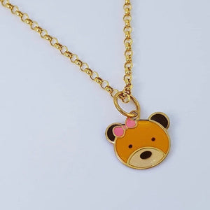 Teddy Bear Necklace 18K Gold