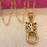 18K Gold Panther Women's Necklace mytt56 - ZNZ Jewelry Philippines