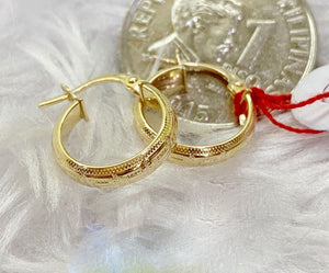 18K Gold Hoop Earrings mytt9 - ZNZ Jewelry Philippines