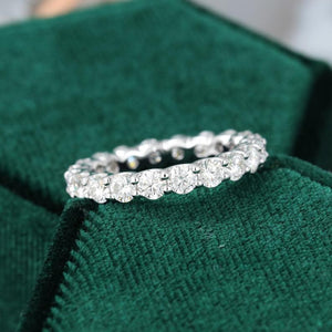 Full Eternity 3.0mm Moissanite Engagement Ring  14K White Gold