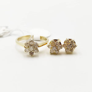 .70ctw Rositas Diamond Earrings and Ring Jewelry Set in 14K Yellow Gold
