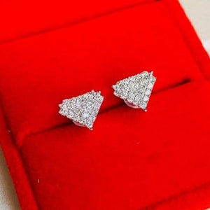 .50ctw Superman Diamond Earrings 18K White Gold