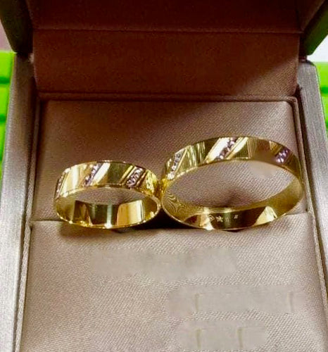 LARA 18K Gold Two-Tone Wedding Rings