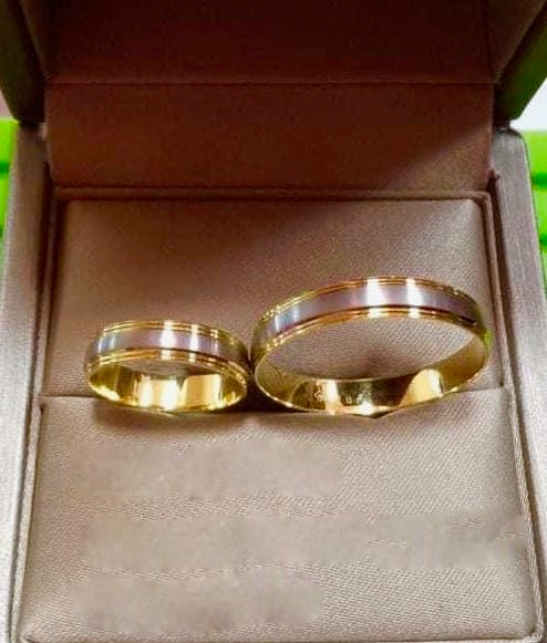 HOLLY 18K Gold Two-Tone Wedding Rings - ZNZ Jewelry Philippines