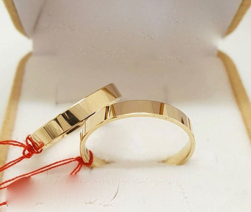 18K Gold Wedding Rings - ZNZ Jewelry Philippines