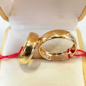 18K Gold Wedding Rings Plain - ZNZ Jewelry Philippines