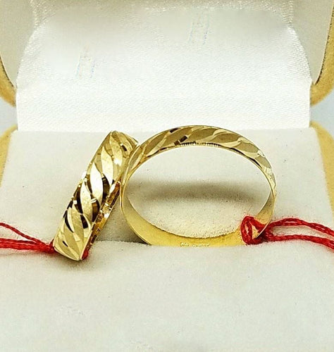 18K Gold Wedding Bands, Couple Rings - ZNZ Jewelry Philippines