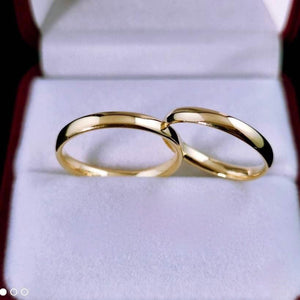 LUX 18K Gold Wedding Rings