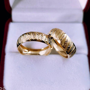 MONDE Wedding Rings in 18K Gold