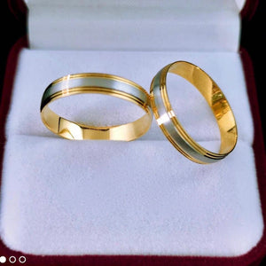 HOLLY 18K Gold Two-Tone Wedding Rings