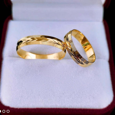RILLA 18K Gold Wedding Rings