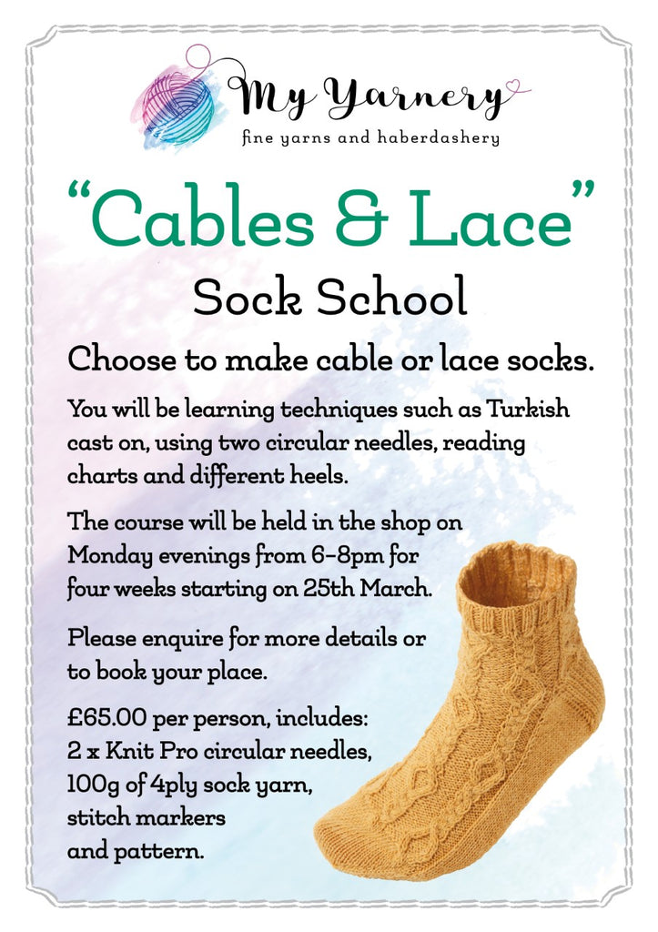 Sock Course Coming Up