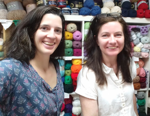 Lizzie J and Lizzie of My Yarnery Havant in their shop