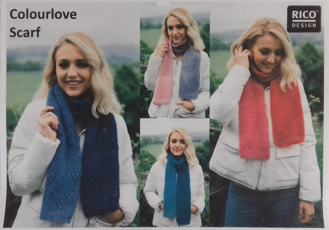 Free scarf pattern for Rico Essentials Super Kid Mohair loves Silk at My Yarnery Havant UK