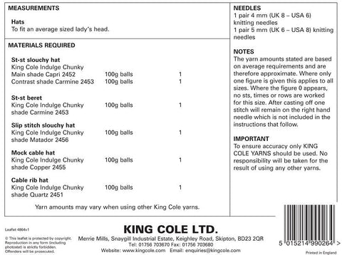 King Cole Pattern 4864