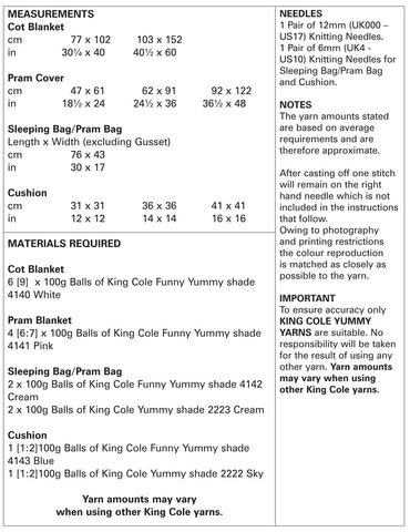 King Cole Pattern 5309 Funny Yummy