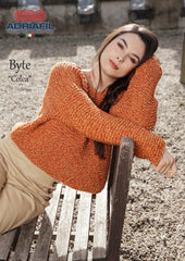 Adriafil Colca pullover sweater pattern in Byte yarn at My Yarnery Havant UK