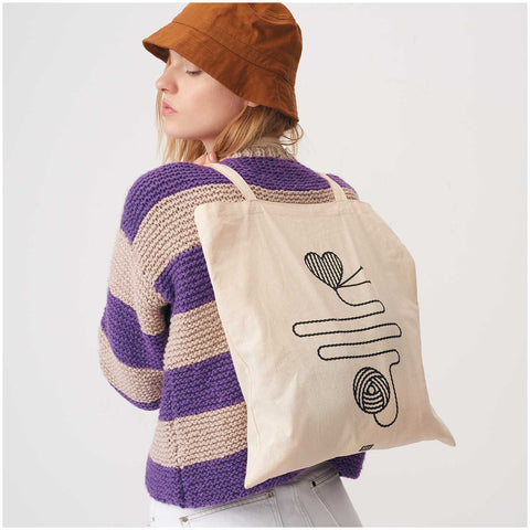 Rico Cotton Tote Bag - -Ball of Wool design printed - My Yarnery UK