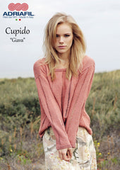 Adriafil Giava pullover sweater pattern in Cupido yarn at My Yarnery Havant UK