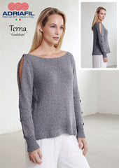 Adriafil Guadalupe pullover knitting pattern in Terna yarn at My Yarnery Havant UK