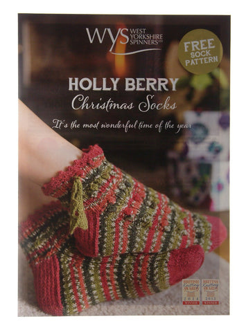 Free sock pattern when you purchase Holly Berry 4ply Christmas edition