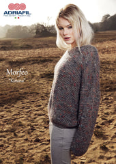 Adriafil Kiruna Pullover pattern in Morfeo yarn at My Yarnery Havant UK