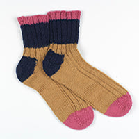 Striped Ribbed Socks K3 Erika Knight by Emma Wright