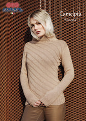 Adriafil Victoria Pullover pattern in Camelpiu yarn at My Yarnery Havant UK