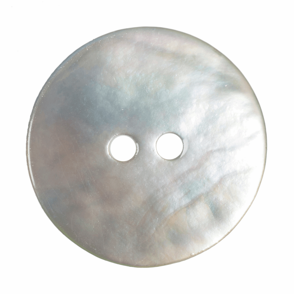 18mm Dyed Agoya Shell 2 Hole Button: Natural