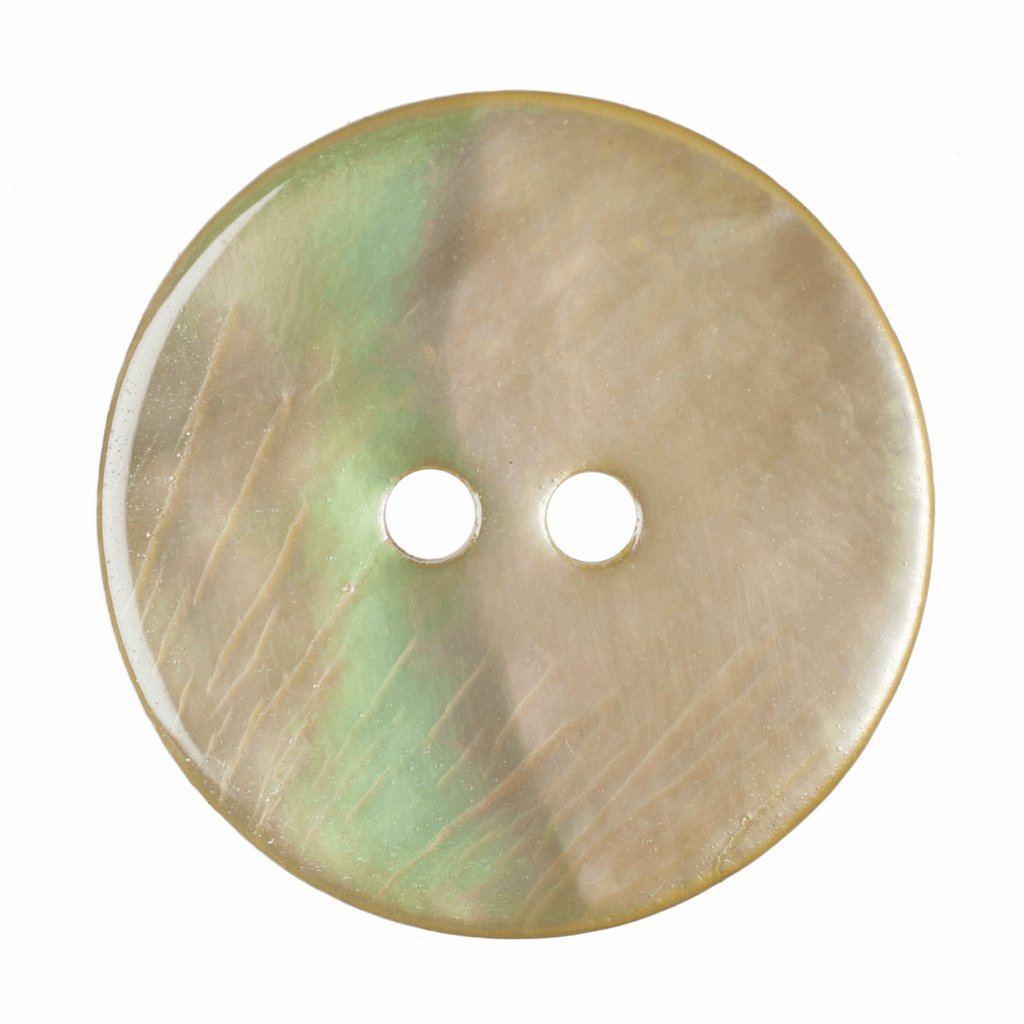 18mm Dyed Agoya Shell 2 Hole Button: Green