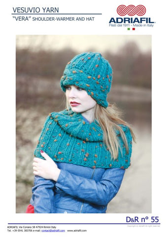 Adriafil Pattern 'Vera' Shoulder Warmer and Hat ***SALE***