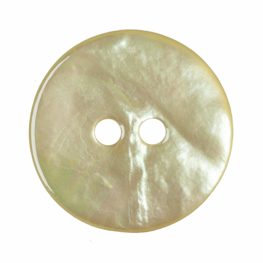 15mm Dyed Agoya Shell 2 Hole Button: Green