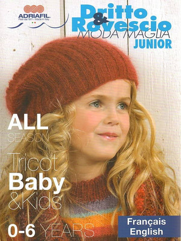 Adriafil Dritto & Rovescio Junior - All Season Tricot Baby & Kids - Pattern Book