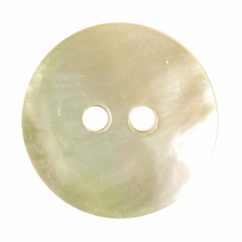 15mm Agoya Shell 2 Hole Button: Mother of Pearl