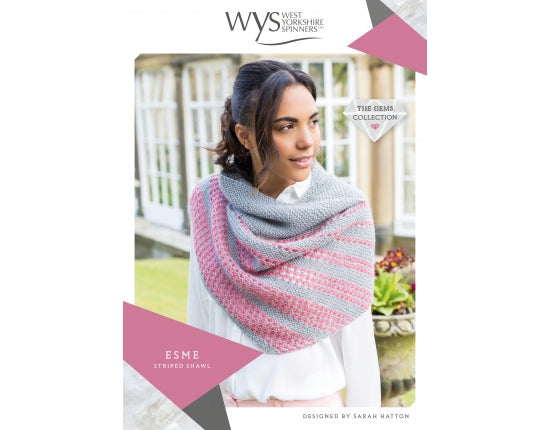 West Yorkshire Spinners Pattern - Esme Striped Shawl
