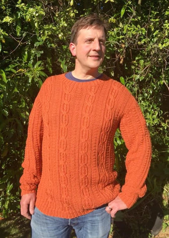 Hand-Knitted Mans Sweater