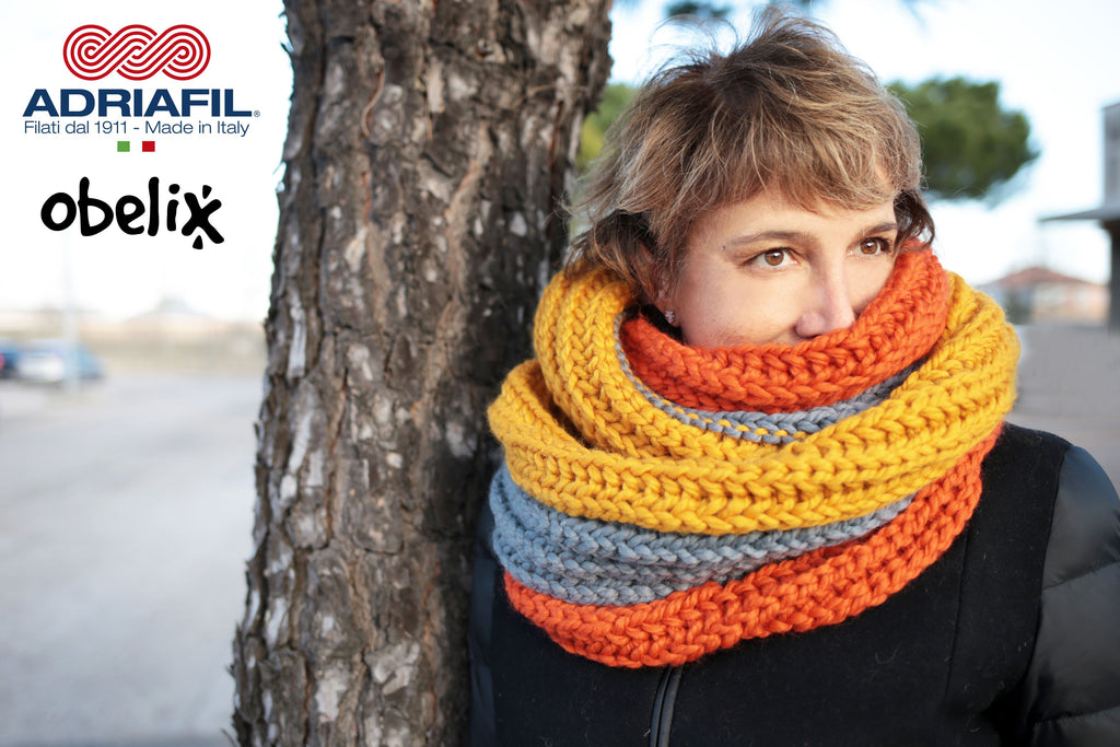 Adriafil Pattern - Cowl in Fishermans Rib - Obelix