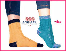 Adriafil pattern - 'Relax' Fancy Ribbed Socks - Calzasocks