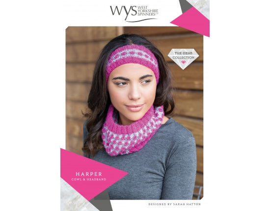 West Yorkshire Spinners Pattern - Harper Cowl & Headband