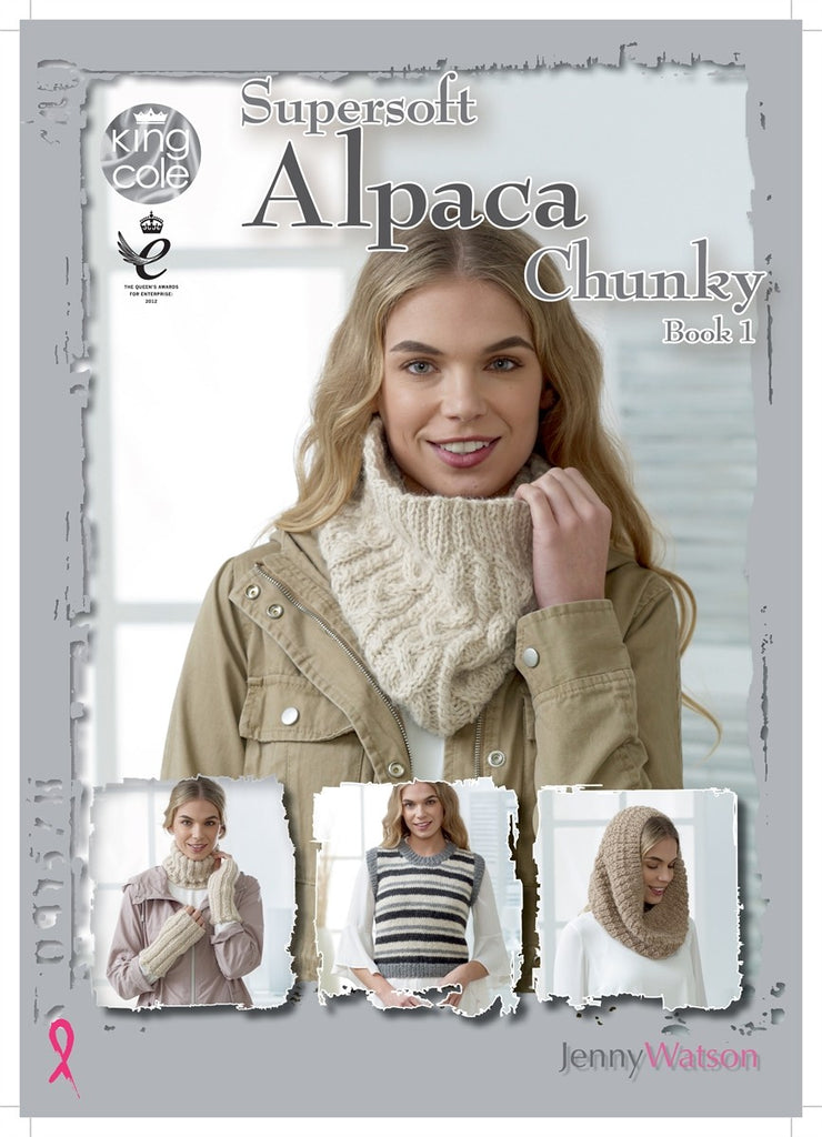 King Cole Supersoft Alpaca Chunky Pattern Book 1