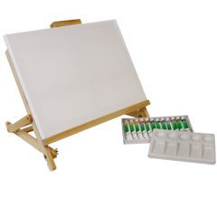 Acrylic painting table easel set