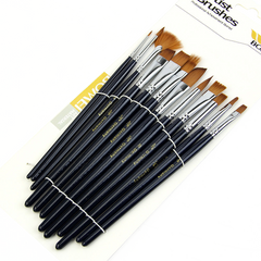 Artist paint brush set nylon hair watercolor acrylic oil painting supplies