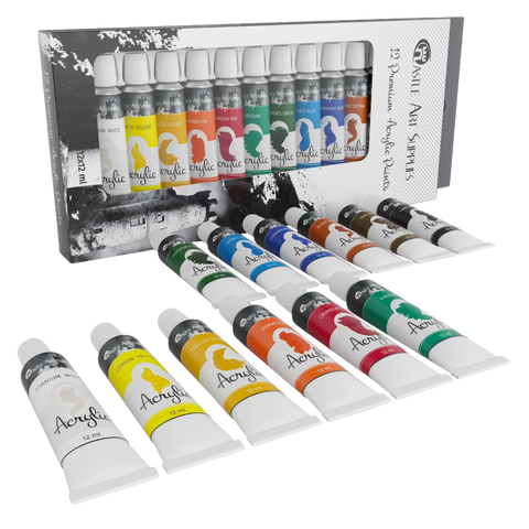 Castle art supplies acrylic paint set pack of 12 colors