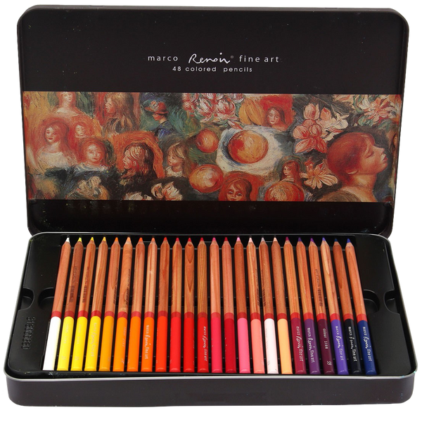 Color set marco renoir fine art drawing oil base non toxic pencils