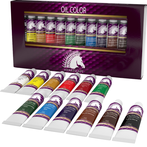 Oil paint set  artist quality art paints for painting on canvas  starter kit