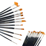 Outop 12pcs nylon hair paint brush set